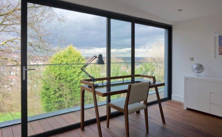 Room Minimalist Furniture Also Vissible Floor Ceiling Windows