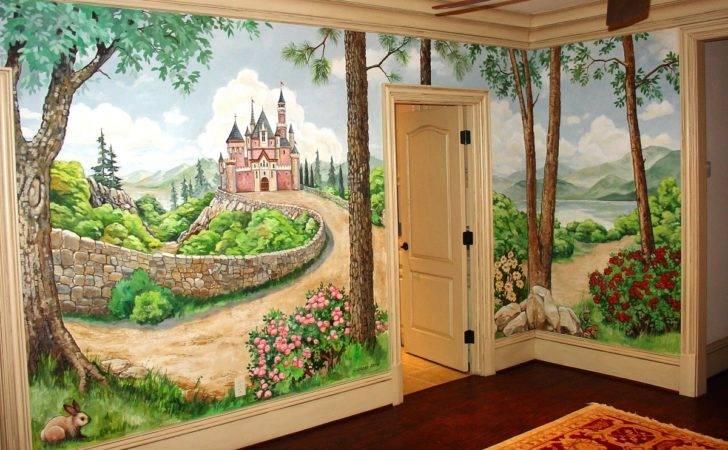 Room Mural Murals Girls Kids Home Design Create