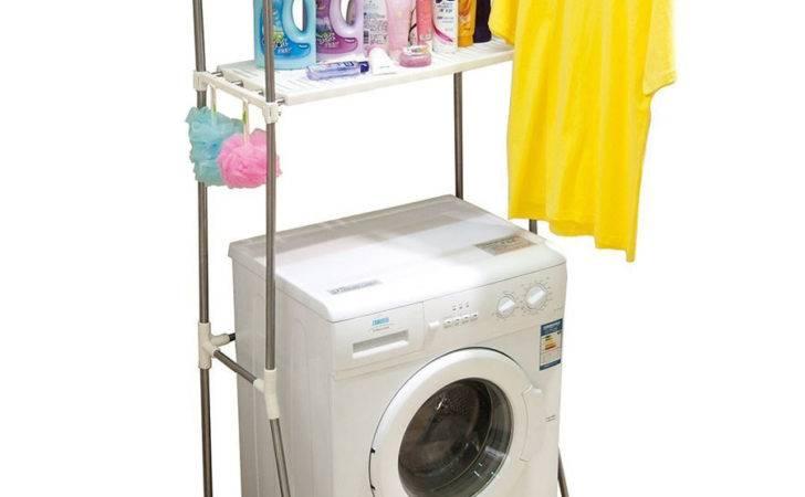 Room Storage Laundry Organizers Washing Machine Rack