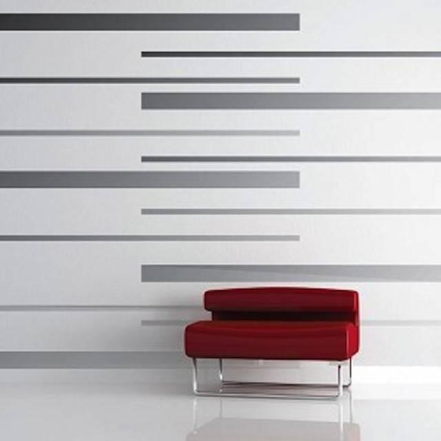 Room Stripes Vinyl Wall Decals Modern Las Vegas