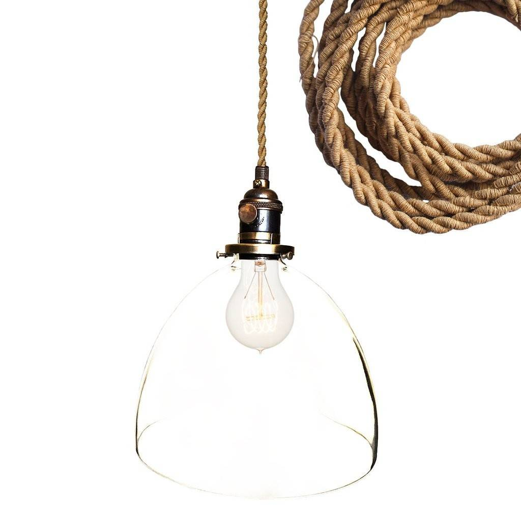Rope Cord Pendant Light Tequestadrum