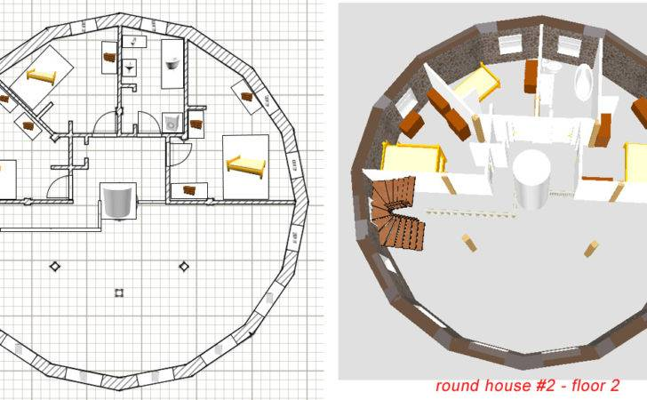 Round Circle House Floor Plans Shaped