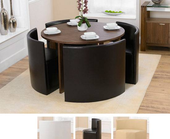 Round Dining Table Designs Seater Walnut