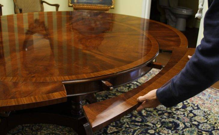 Round Oval Mahogany Dining Table High End Designer Furniture