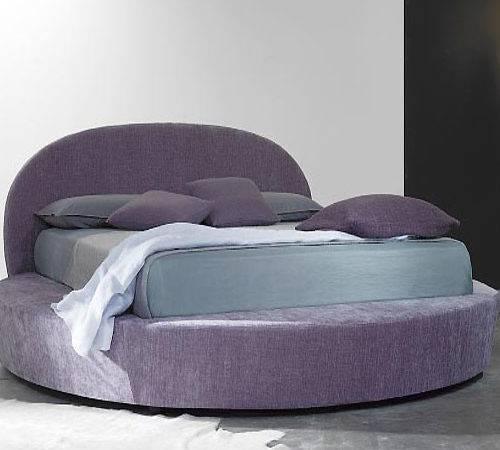 Round Purple Bed Furniture Modern Bedroom Design