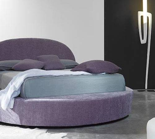 Round Purple Bed Furniture Modern Bedroom Design