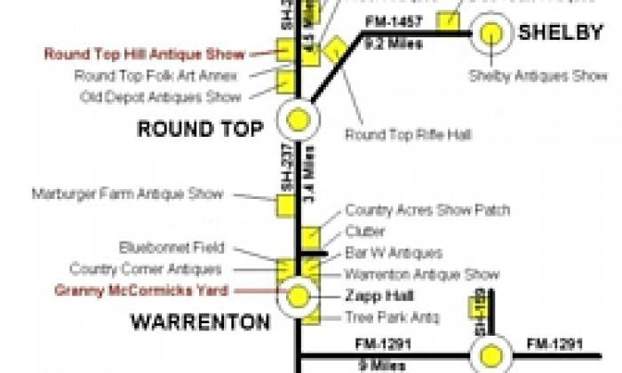 Round Top Warrenton Antiques Week Show Directory