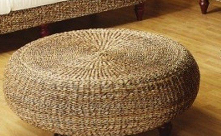 Round Tufted Ottoman Diy Coffee Table Popular Storage