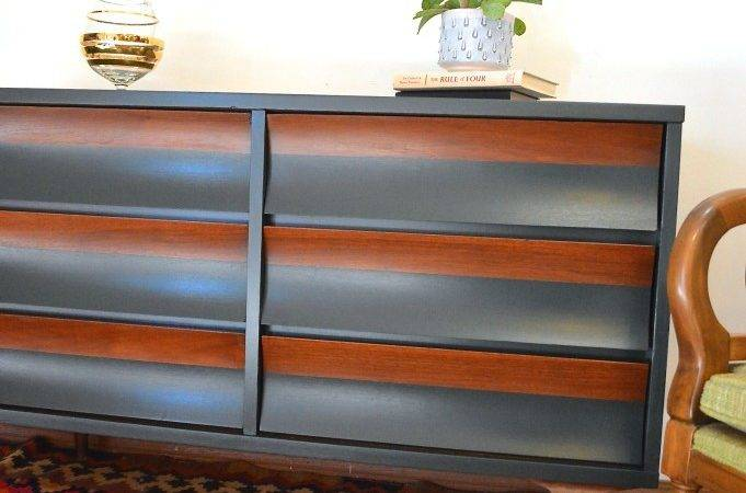 Roundup Crushing Painted Mid Century Modern Furniture