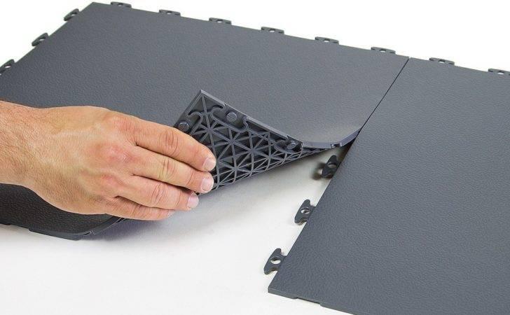 Rubber Floor Tiles Flexible Pvc Gray