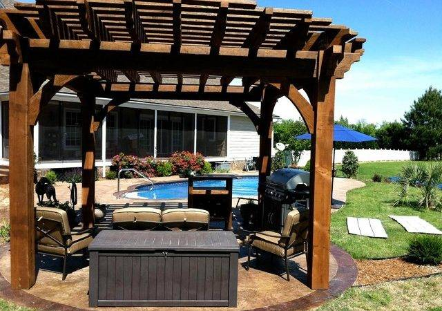 Ruby Residence Poolside Round Roof Pergola Contemporary Patio