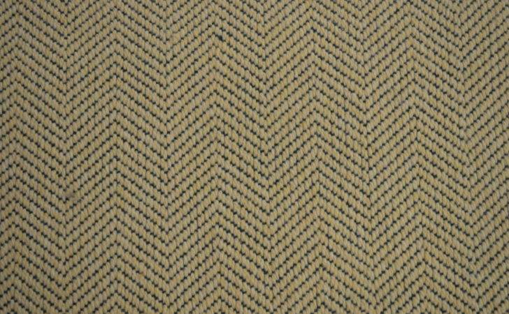 Rug Woven Wool Carpet Remnant Herringbone Pattern