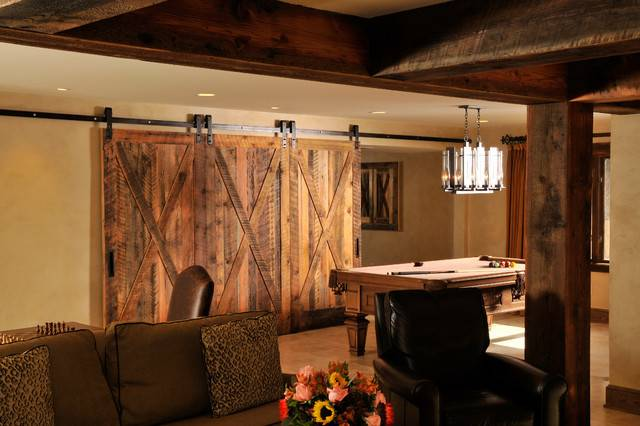 Rustic Basement Bar Ideas Lodge Style