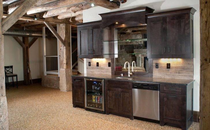 Rustic Basement Bar Ideas Modern Cool