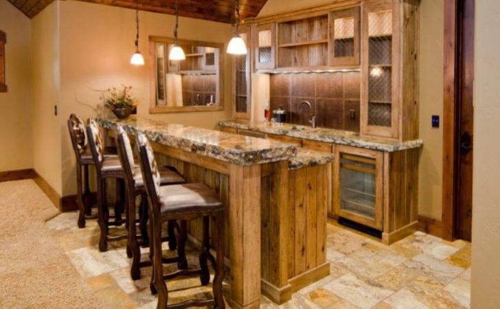 Rustic Basement Ideas Home Bar Designs Bars