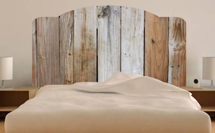 Rustic Bed Headboard Wall Mural Decal Modern