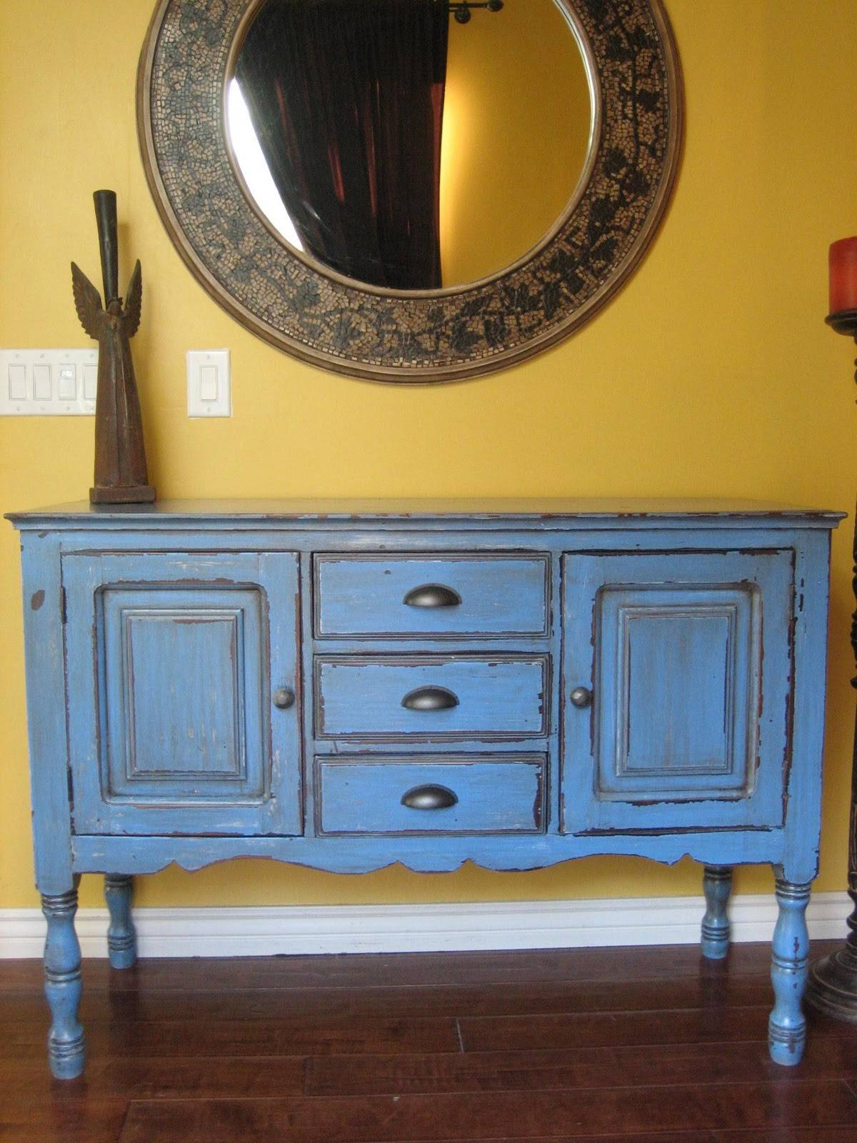 Rustic Blue Buffet