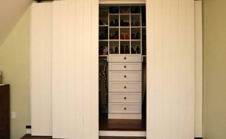 Rustic Closet Doors Ideas White Color Small Walk