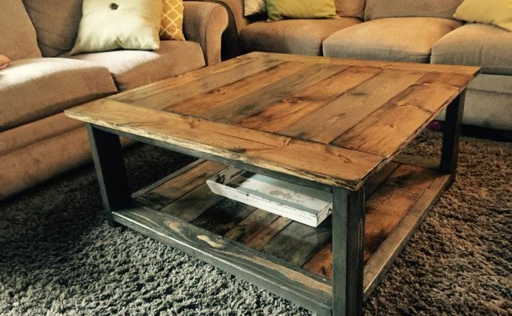 Rustic Coffee Table Ana White Plans Minwax Dark Walnut