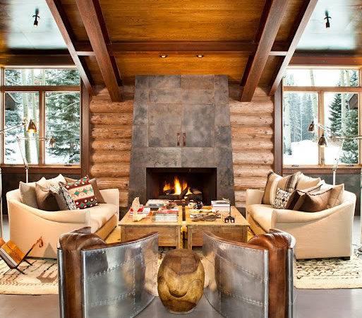 Rustic Contemporary Interior Design Trulinea Architects
