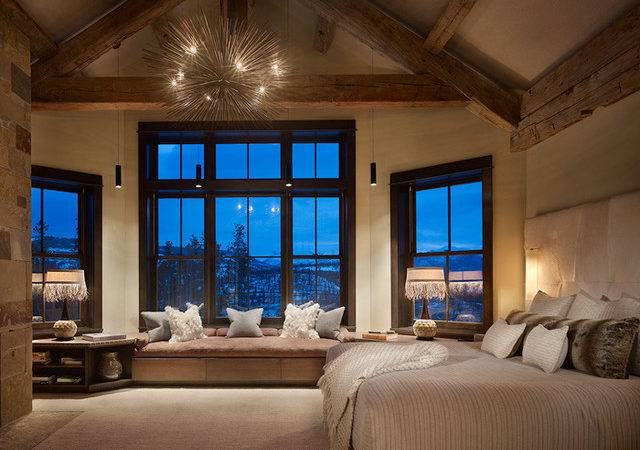 Rustic Contemporary Master Bedroom