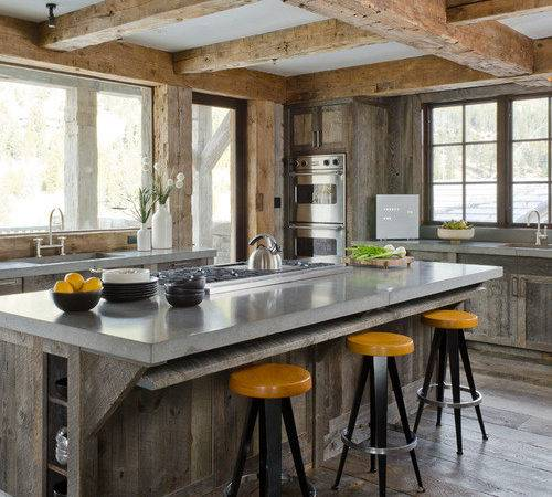 Rustic Countertop Home Design Ideas Remodel Decor