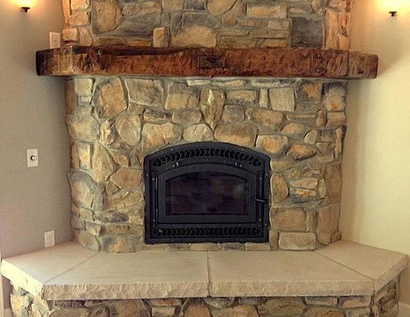 Rustic Fireplace Mantels Log Mantel Mantles Timber