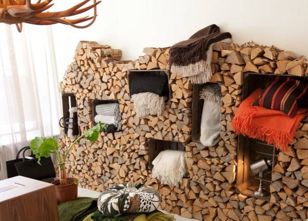 Rustic Firewood Box Cool Storage Designs Modern Homes