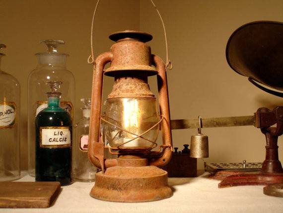 Rustic Industrial Lighting Repurposed Upcycled Electrified Antique