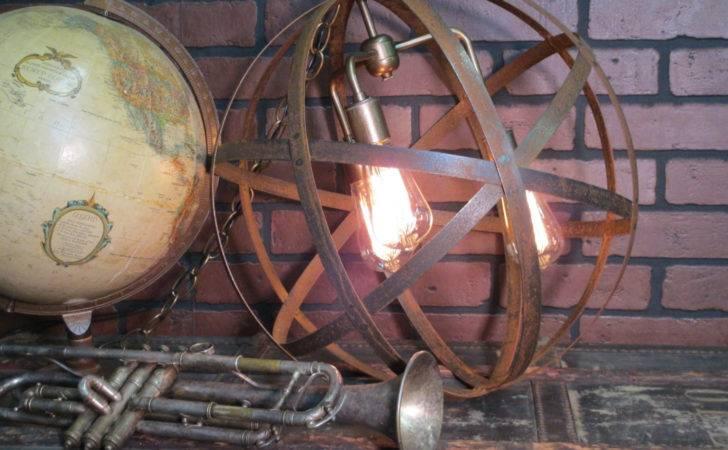 Rustic Industrial Orb Ceiling Light Chandelier Sphere