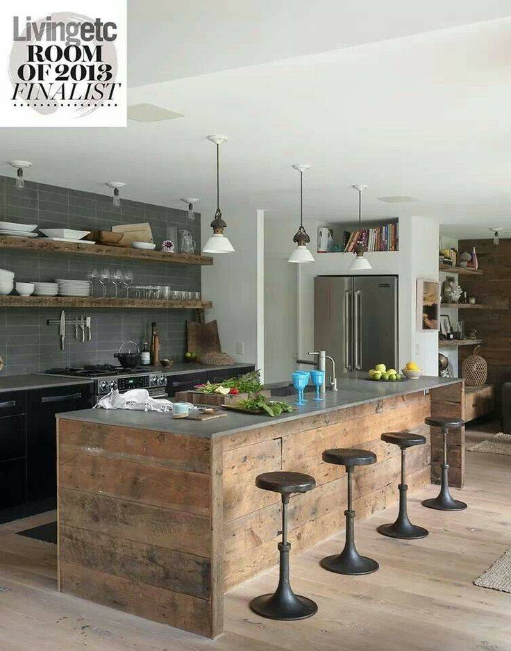 Rustic Industrial Style Kitchen Home Pinterest