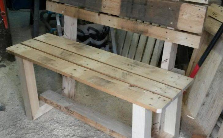 Rustic Inspired Wooden Pallet Bench Furniture Diy