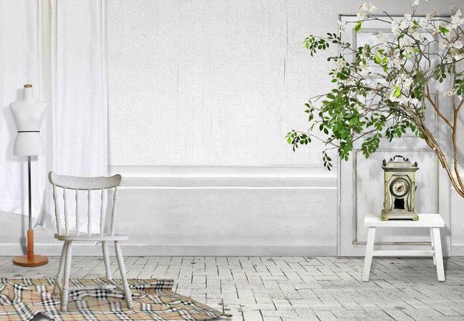 Rustic Interior Design Psd Template Farmhouse