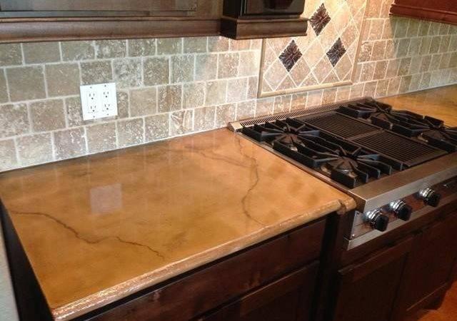 Rustic Kitchen Cabinet Ideas Concrete Countertop Houston