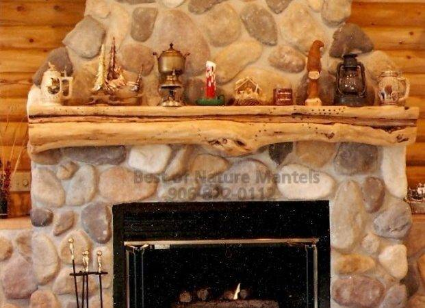 Rustic Mantels Wood Fireplace Mantel Log