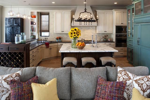 Rustic Mediterranean Beach Home Kitchen Los