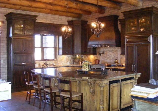 Rustic Mediterranean Kitchen Cabinets
