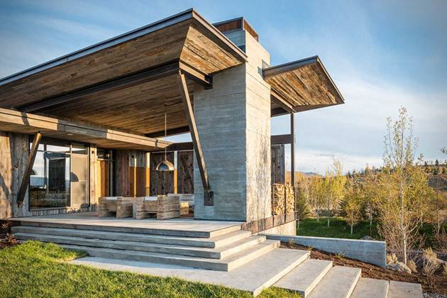 Rustic Modern Vacation Home Wyoming Hiconsumption