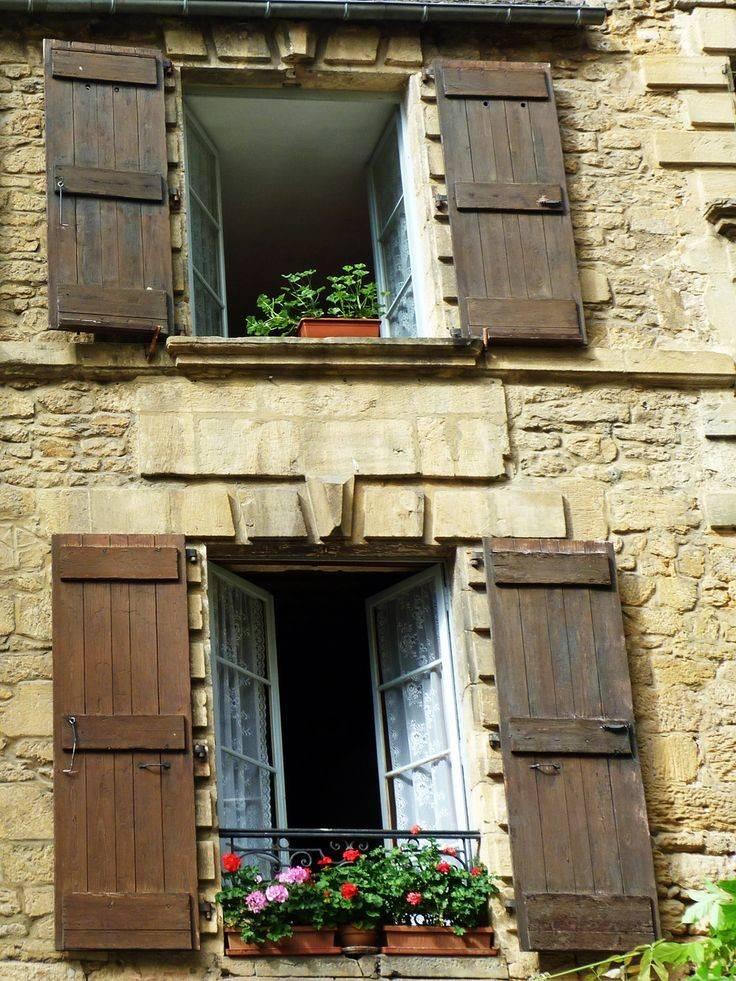Rustic Shutters Geraniums Sarlat Home Pinterest