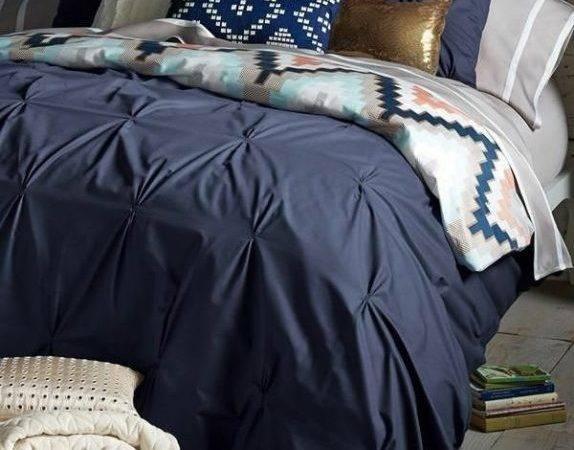 Rustic Small Bedroom Bedding Dark Blue Duvet Tribal