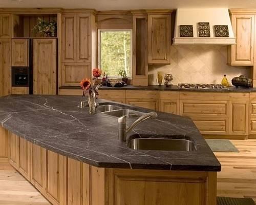 Rustic Soapstone Countertop Home Design Ideas Photos