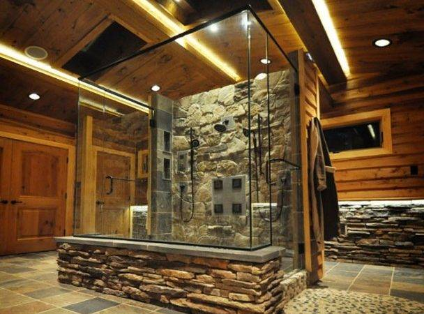 Rustic Stone Showers Shower