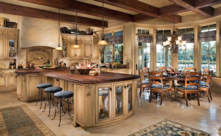 Rustic Tuscan Kitchen Design Stone House Decorating