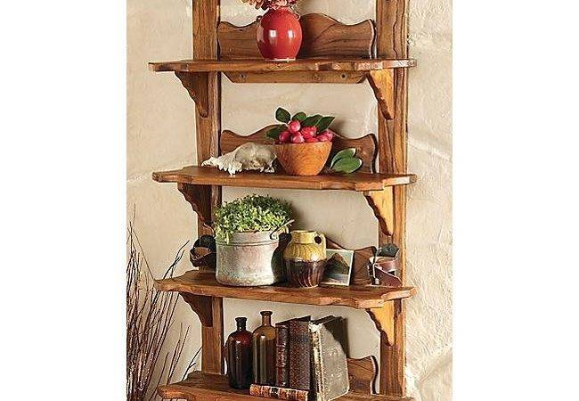 Rustic Vintage Style Wood Ski Shelf Reclaimed Furniture Design Ideas