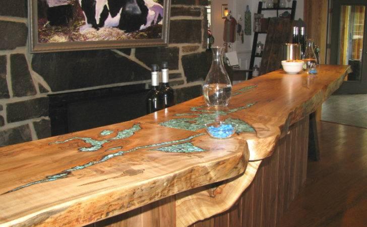 Rustic Wood Countertops Diy Reclaimed Countertop Ideas