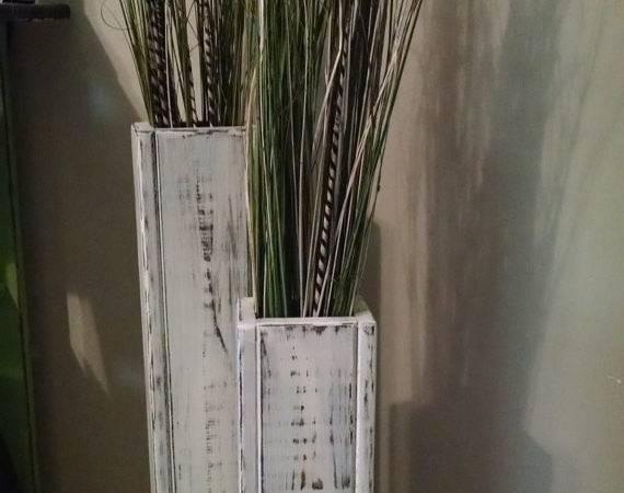 Rustic Wood Floor Vases Custom Sizes Wedding Decor Vase Home
