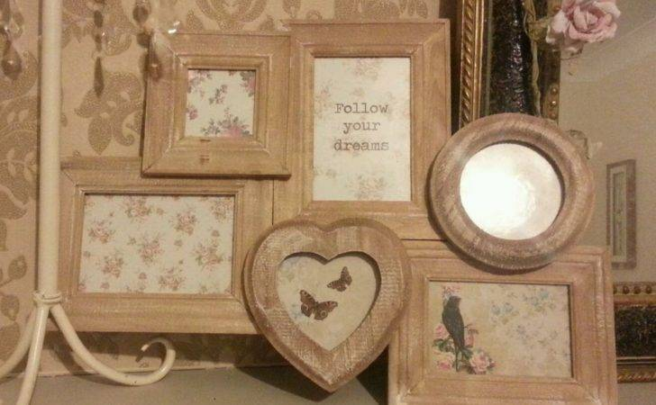 Rustic Wooden Collage Frame Multi Wood Chic Shabby