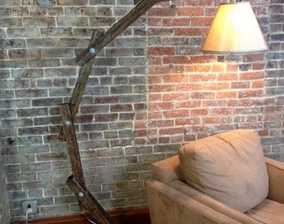 Rustic Wooden Floor Lamp Awalkthroughthewoods Etsy