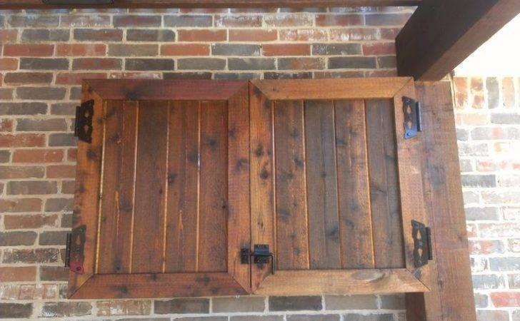 Rustic Wooden Outdoor Cabinet Fold Door Attach
