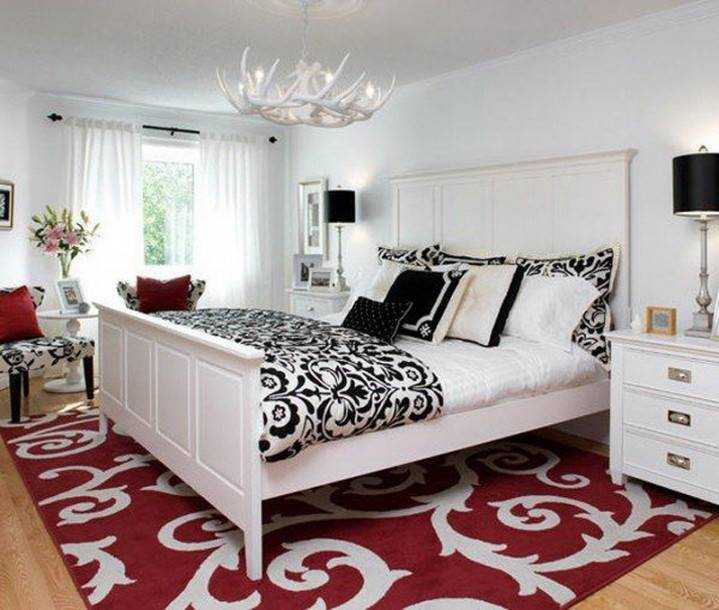 Samples Black White Red Bedroom Decorating Ideas